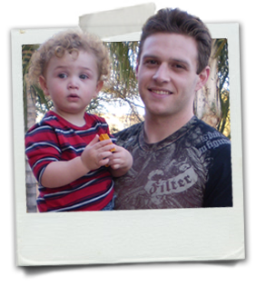 Zach Coyne and son, Damon