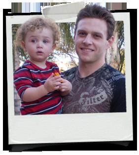 Zach Coyne and son, Damon